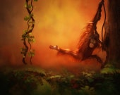 Baby Orangutan Print