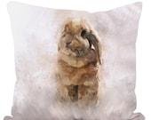 40cm Throw Cushion Twist Lop-eared Bunny