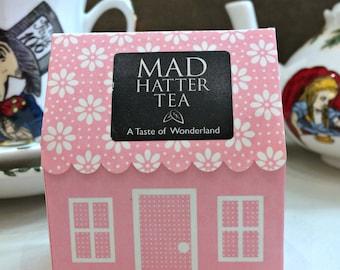 Mad Hatter Tea Bags x 6 - Alice In Wonderland Pink House