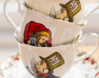 Alice in Wonderland Bone China Cup & Saucer