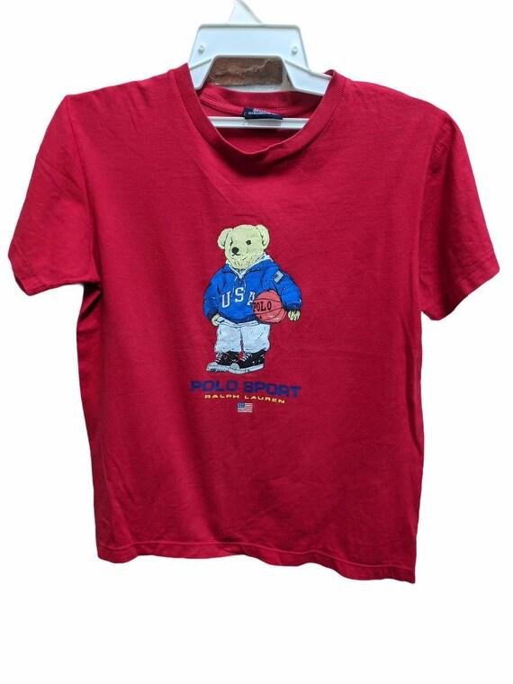 Vintage Polo Sport USA Ralph Lauren Crop Off Shirt