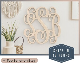 """Fast 24"""" 3 Letter Wooden Monogram - OFFICE 24 inch Large Wooden Monogram decoration - personalized custom wall hanging - Nursery Monogram"""