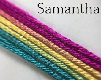 Hand dyed silk embroidery thread, 6-strand - Samantha