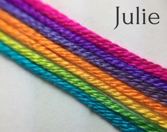 Hand dyed silk embroidery thread, 6-strand - Julie