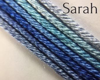 Hand dyed silk embroidery thread, 6-strand - Sarah