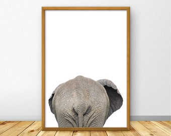 Bathroom Print, Bathroom Wall Art, Bathroom Decor, Bathroom Poster, Elephant  Poster Large, African Animal, Elephant Wall Art, Dubai (W0822)