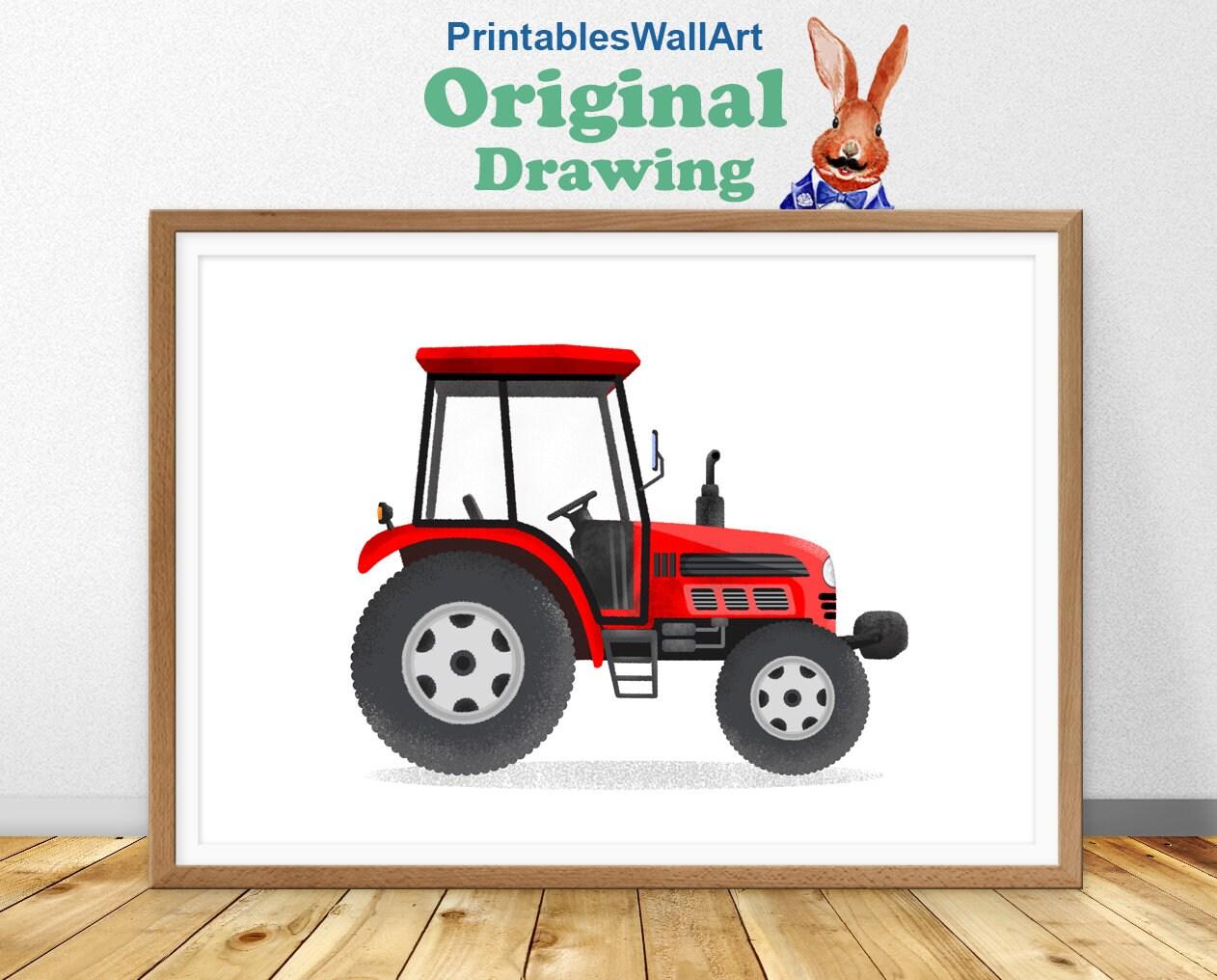 Tractor Print Tractor Printable Tractor Boy Room Wall Art Etsy