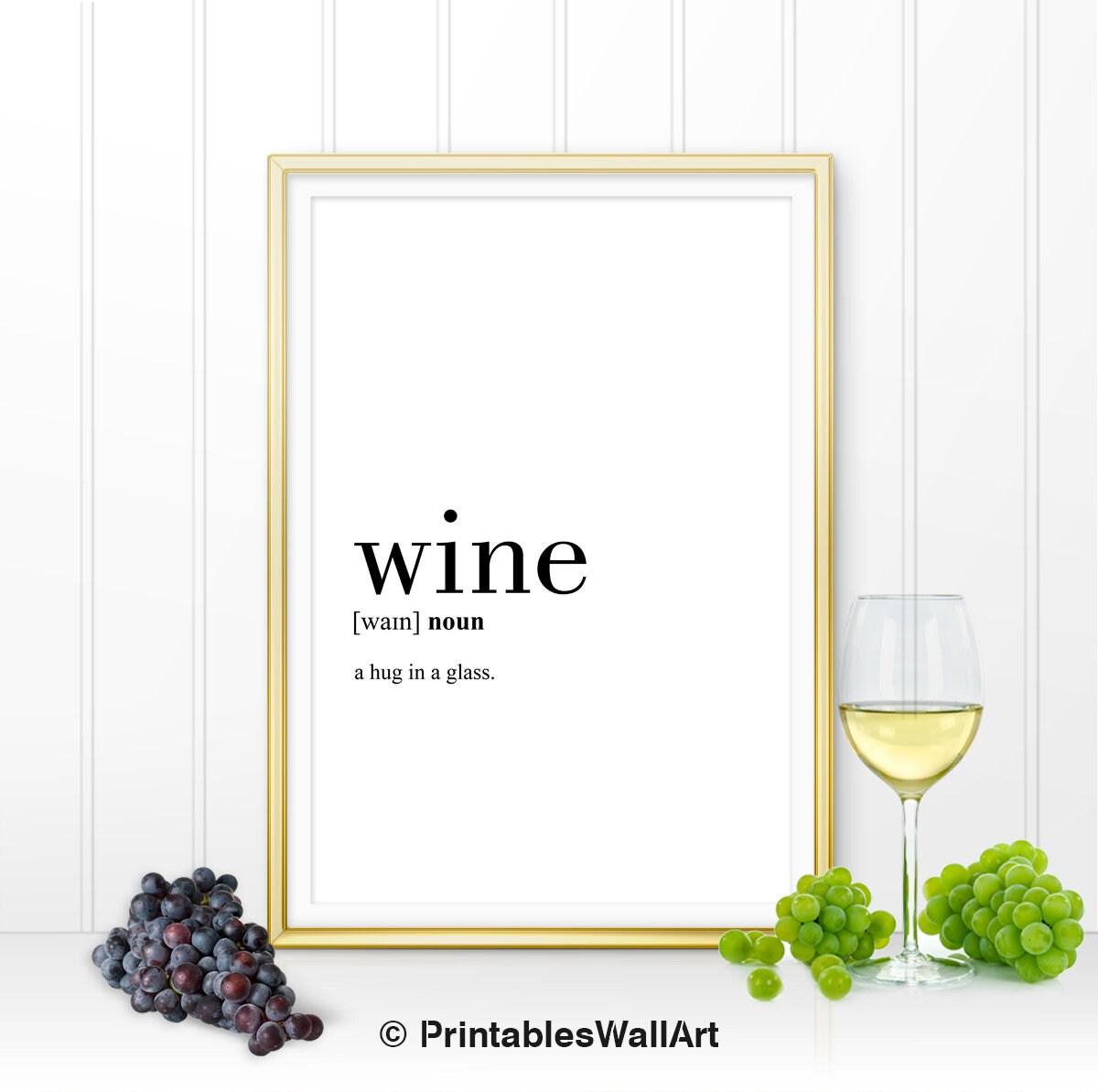 Wein Definition Druck druckbare Wein Küche Dekor Küche Wand   Etsy
