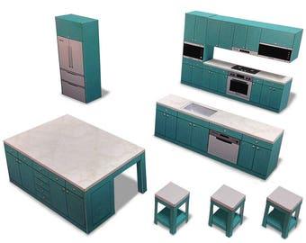 Kitchen #002 - ifunwoo miniature Paper Craft