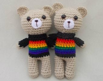Rainbow Teddy Bears Rainbow Gift Gay wedding gift rainbow cause awareness gay pride awareness Valentine's Bear Valentine's Day Gay Gift