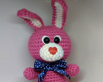 Easter gifts for kid etsy ready to ship funny bunny rabbit easter gift crochet toy crochet rabbit toys easter gift for kids crochet animal pink bunny from loren ver negle Choice Image
