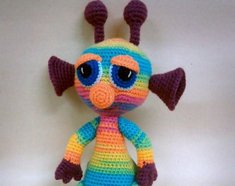 Alien Crochet Toy Rainbow Will be made JUST FOR YOU