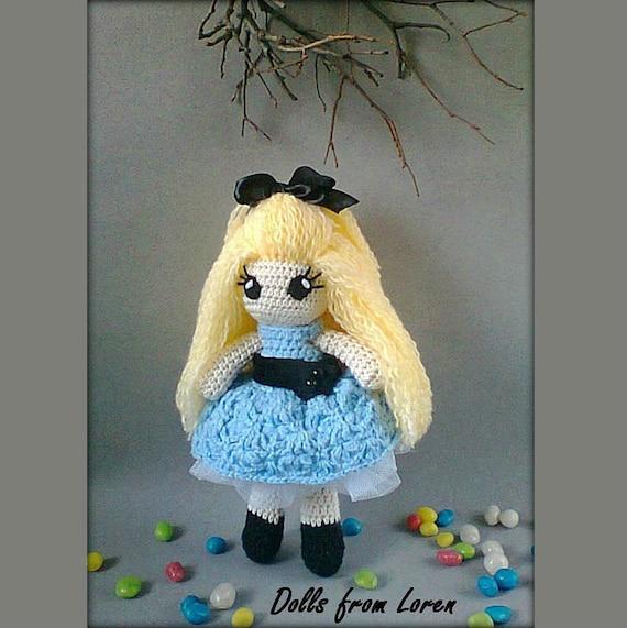 Alice Im Wunderland Puppe Häkeln Portrait Puppe Etsy