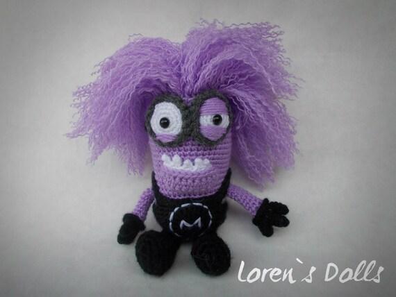 Bösen Schergen Häkeln Spielzeug Lila Minion Aggressive Wild Etsy