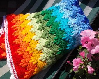 Crochet Baby Blanket Rainbow Baby Gift Crochet Baby Afghan Rainbow Baby shower gift cover from Loren Ver