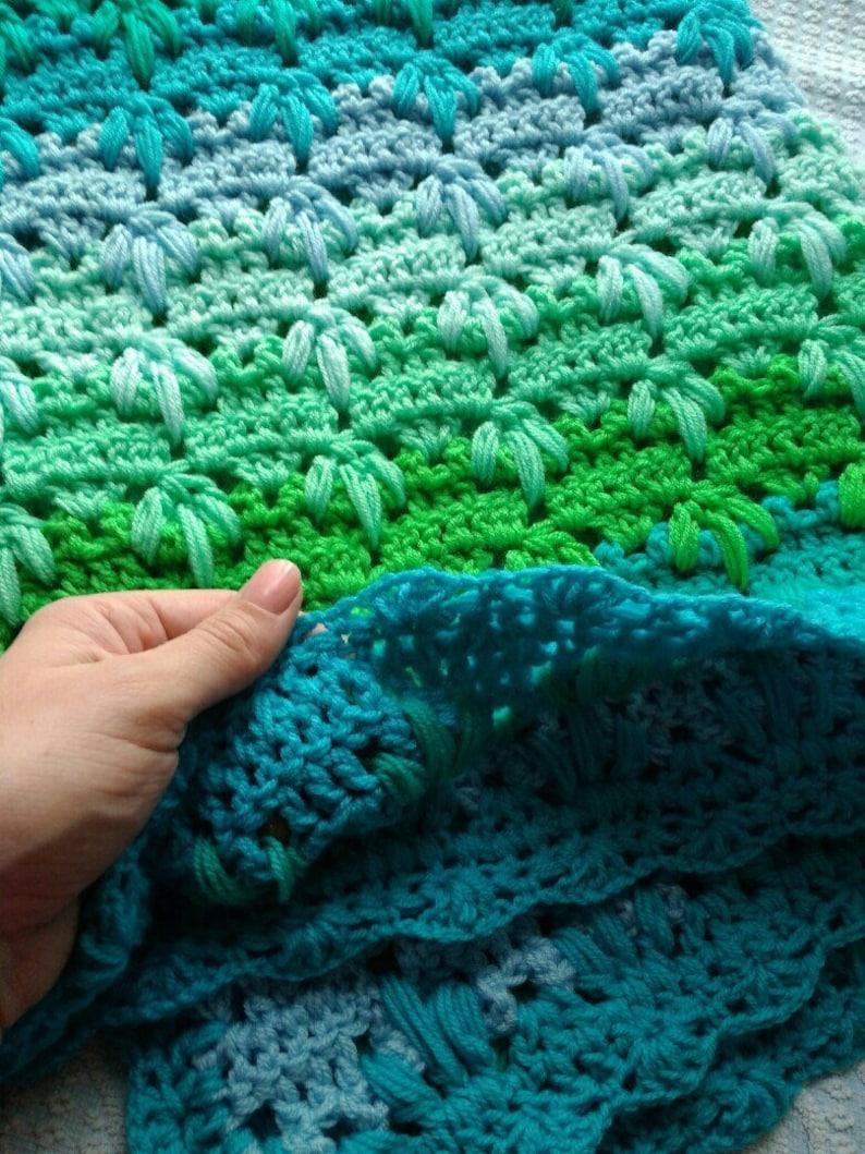 Crochet baby blanket Crib handmade Newborn baby blanket Crochet throw Baby afghan Stroller blanket Car seat blanket New baby gift