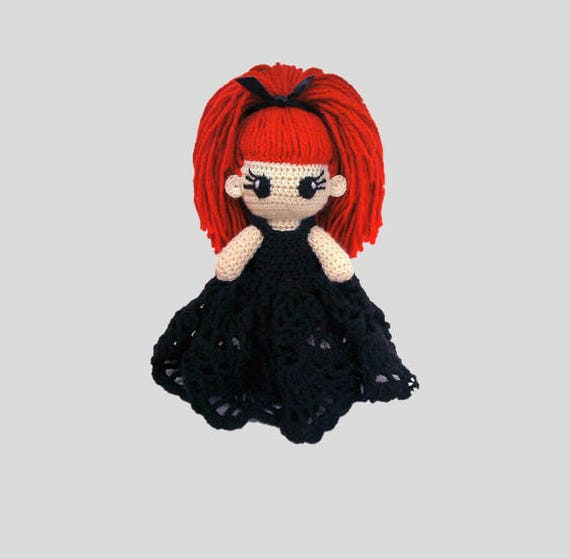 Evilyn Häkeln Puppe Portrait Puppe Gothic Puppe Voodoo Puppe Etsy