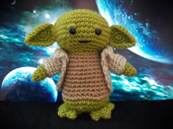 Yoda Star Wars Charakter Häkeln Spielzeug Yoda Star Wars Yoda Etsy