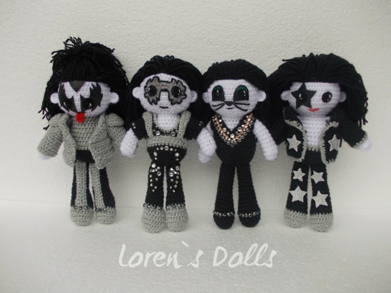 KISS band Portrait Doll Personalized gift Demon Spaceman Cat Starchild Rock  musician voodoo doll Will be made just for You