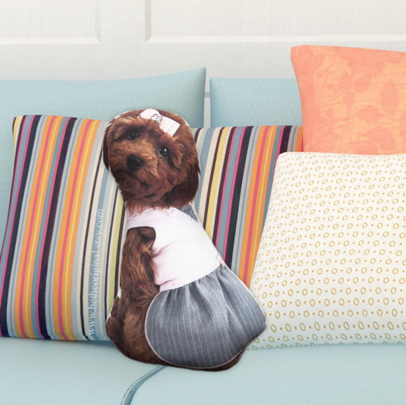 96f1f33e199 Pillows that look like dogs cute dog decorative pillow dog
