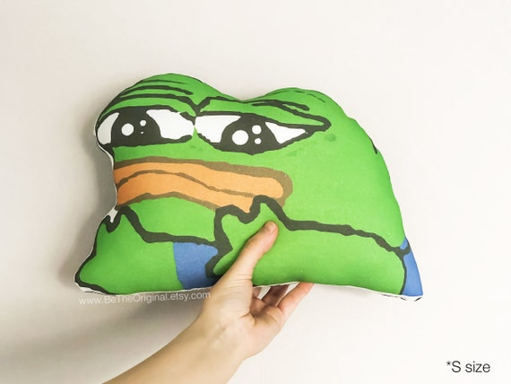 Stuffed Sad Pepe Pillow Fun Gifts The