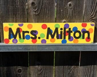 Fun Teacher Personalized Sign