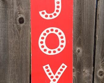 Joy red polka dot handpainted sign *READY TO SHIP*