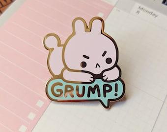Grump! Enamel Pin