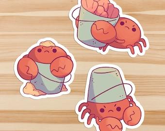 Crabby Bucket Baby Sticker Set *Pack of 3*