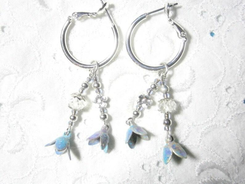 Bohemian style earrings butterfly wings turquoise light green silver earrings Boho Butterfly Butterfly earrings aqua silver