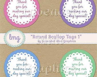 Printable Round Thank You Tags, Special Day, Baby Shower, Favor Stickers, Party Favors, Birthday, Gift Tags, Cupcake Topper-Instant Download