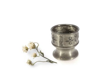 Vintage Pewter Cup  - Hagness Pewter - Norwegian Pewter - Small Cup - Egg Cup - Tea Candle Holder
