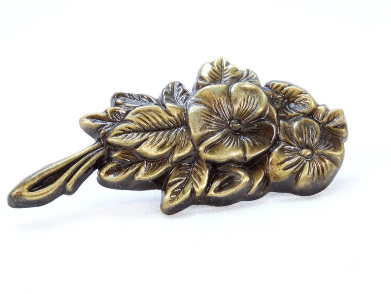 Antique Bow Furniture Mount Bow Hardware Gold Bow Wall Decor French Brass Bow Furniture Molding DIY Bow Ornament