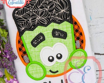 Frankie Circle Applique Design For Machine Embroidery INSTANT DOWNLOAD