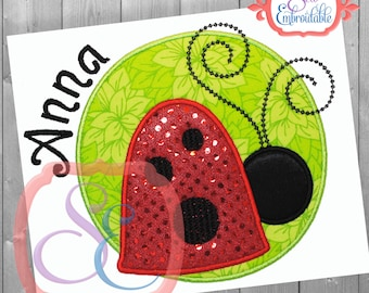 Lil' Lady Bug Applique Design For Machine Embroidery INSTANT DOWNLOAD