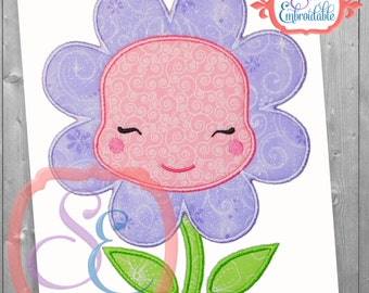 Daisy Applique Design For Machine Embroidery INSTANT DOWNLOAD