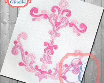 DAMASK FILLED ANCHOR Applique Design For Machine Embroidery