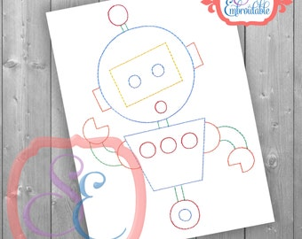 Ralph the Robot Machine Embroidery - Vintage Embroidery Design INSTANT DOWNLOAD