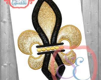 Fleur De Lis Applique Design For Machine Embroidery INSTANT DOWNLOAD