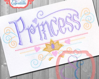 PRINCESS Design For Machine Embroidery INSTANT DOWNLOAD