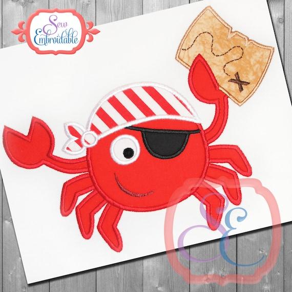 Dise o de apliques de cangrejo pirata para descarga - Apliques de diseno ...