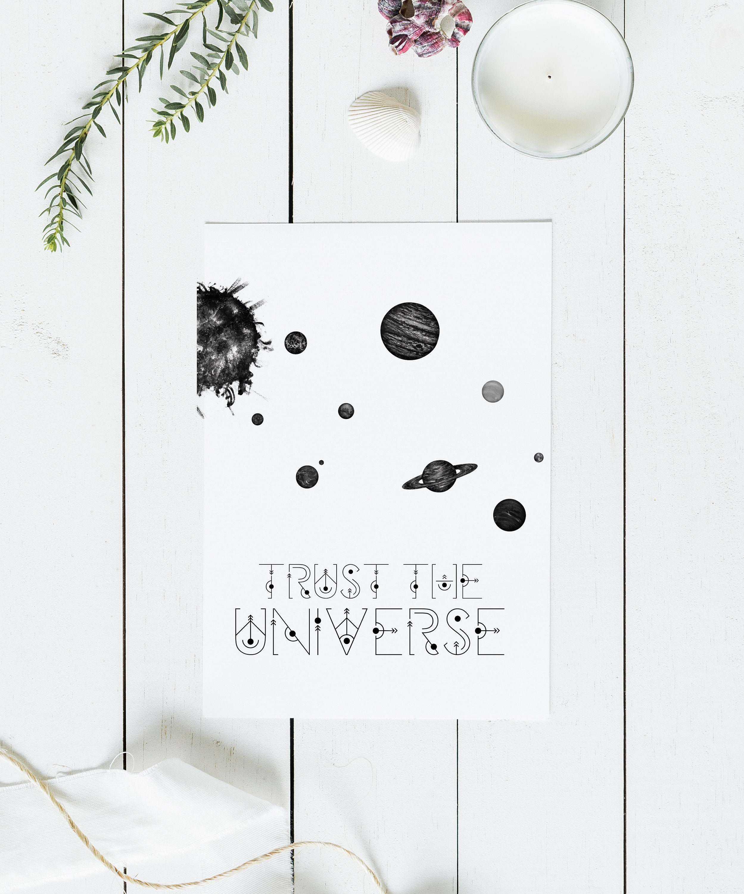 Trust The Universe Greeting Card Etsy