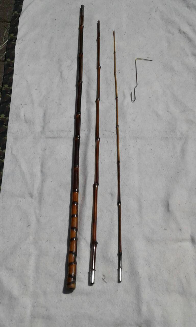 Vintage Bamboo Fishing Rod 1940 S Bamboo Poke Rod Etsy