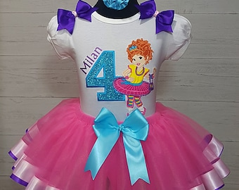 5d924c83 Fancy Nancy Personalized Hot Pink Ribbon Tutu Shirt and Crystal Crown  Headband 3 Pc. Set Fancy Nancy Birthday Tutu 1st 2nd 3rd 4th 5th 6th