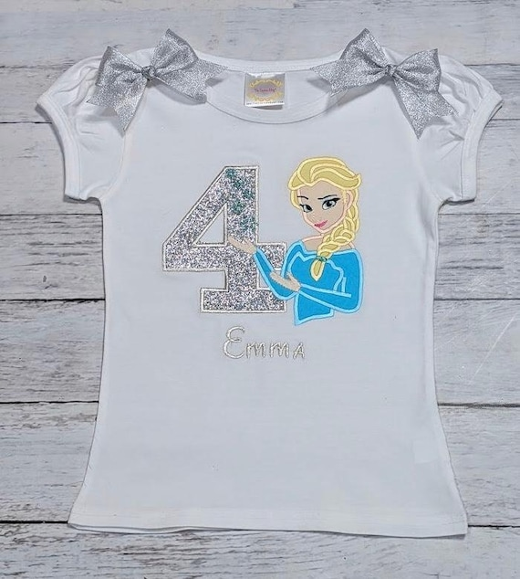 Boys Personalised 1st 2nd 3rd 4th 5th Birthday Top Tshirt Outfit Gift Glitter