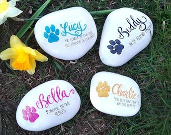 Personalized pet memorial stones, pet memorial, dog memorial stone, dog grave marker, cat memorial stone, pet grave marker, pet headstone