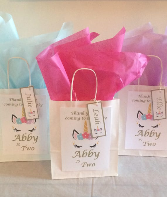 Personalised Birthday Gift Bag Loot Tissue Paper