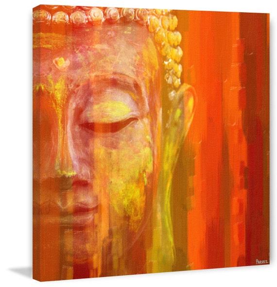 Buddha Art Print On Premium Canvas Etsy