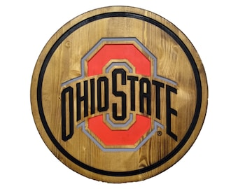 Ohio State Buckeyes Wall Decor Perfect for the Game Room, Office, Family Room, Bar