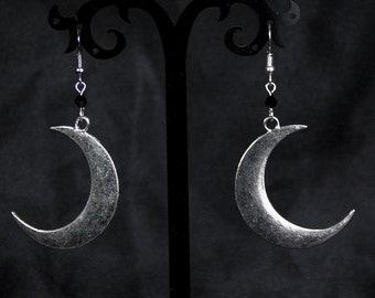 large moon earrings